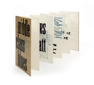 Leporello mit experimenteller Typografie